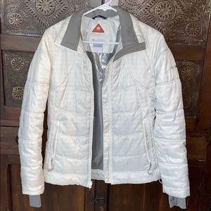 Women's Columbia white light down jacket S